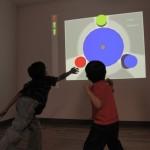 classroom projector kids interacting